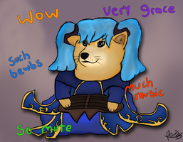Sona - Doge of the Strings by Kevin-Yoshi