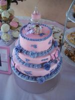 baby shower cake by panda-odono
