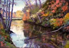 autumn in  Normandy 1 (soft pastel) by PatrickHENRY