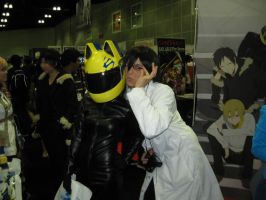 Celty and Shinra by InuKid