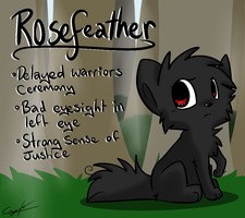 Rosefeather reference by Caramelcat123