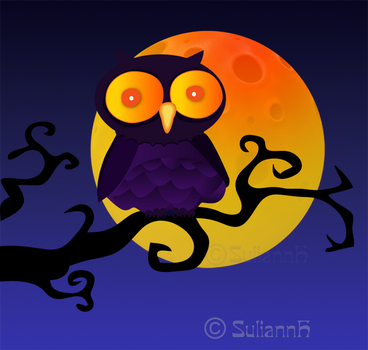 Cheese Moon Owl by SuliannH