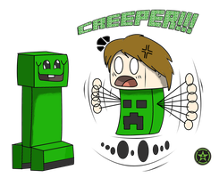 CREEPER!!! (AH fan art) by TheAngryAron