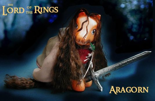 Lord Of The Rings Aragorn Pony by Barkingmadd