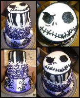 Jack Skellington Cake by Er-ca