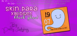 Skin XWidget Clock Ghost by PrettyLadybug093
