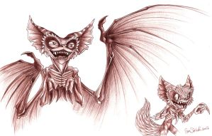 Gremlins - Bat and Chinchilla by ZombiDJ