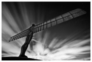 Angel Of The North Moonlight by xyster