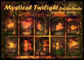 Mystical Twilight backgrounds by KlaraKay