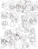 Zaphary Character sketches by Whitewing16