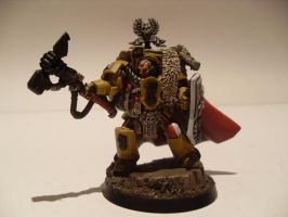 Imperial Fists Captain Lysander by iron-revolution