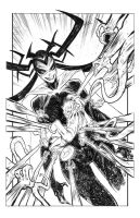 Hela vs. Mister Miracle commission by csmithart