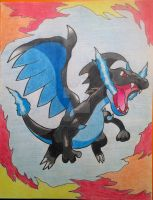 Mega Charizard X by RedDeadRAVAGE