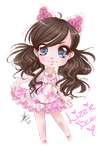 Chibi commission - Lizzie Bee by Chiichanny