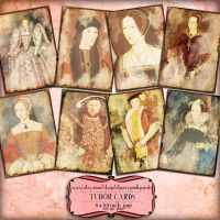 TUDOR KINGS and QUEENS digital collage sheet by miabumbag