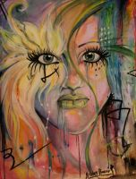 watercolor abstract face by Angel2489