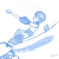 Mega-man Sketchy~ by CaosDraws