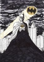 Batman Black and Gold by onimadness