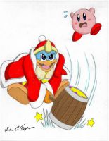 Kirby and King Dedede by Thriller-Man