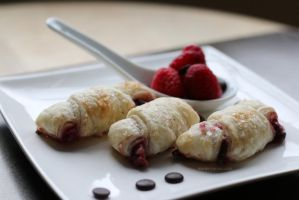 Raspberry Chocolate Roll-ups by maytel
