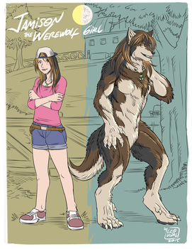 Jamison the Werewolf Girl by alfaluna
