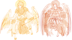 Of the Past: Two Archangels by Rosiana