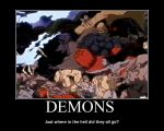 Demons in InuYasha by Inukee