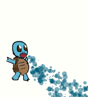 Squirtle Uses Bubblebeam by NevinSlate