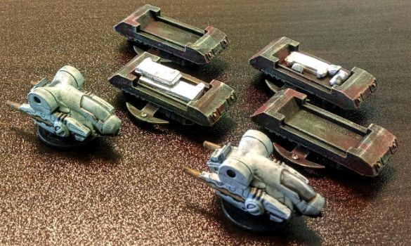 15mm Silmn Hoverbikes and LAMH vehicles by Spielorjh