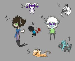 CUSTOM CHIBI CREATURE AND HUMANOID ADOPTS~ by Navicii