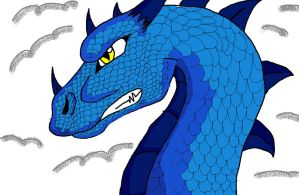 Saphira in the clouds by serpentscorch3422