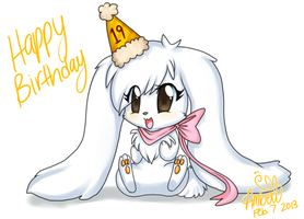 happy birthday melly by Ambunny