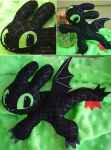 Felt Toothless by the-fox-after-dark