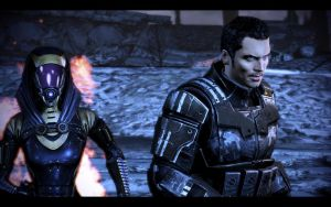 ME3 Run for the Beam - Tali and Kaidan by chicksaw2002