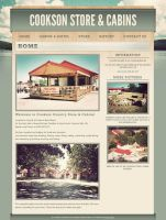 Cookson Store and Cabins Website by ipholio