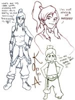Korra Sketches by VigilantMeadow