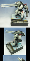 Filbot FDV4 Mako Mech with Railgun by countersunk81