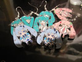 hatsune miku earrings by MagicalMegumi