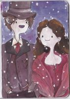 The Doctor and Clara by Dreamsoffools
