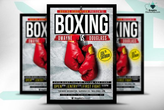 Boxing Flyer Template by GraphicDiamonds