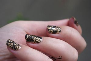 Nail Art Barooque by Angelik23