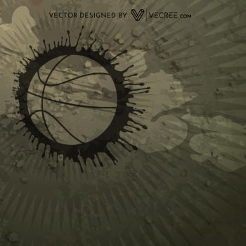 Abstract Basketball Design Free Vector by vecree
