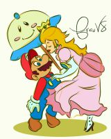 Mario and Princess Peach by FrauV8