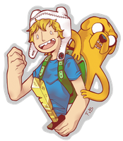 Finn and Jake by FauxBoy