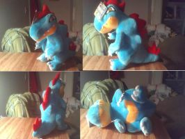 Custom Feraligatr Plush by PokeLoveroftheWorld