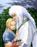 Jiraiya and Tsunade by Umaken