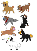 FREE shelter dog adopts^^ closed! (2) by FrankinPoodle