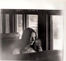 Francisca in the train by edoorellana