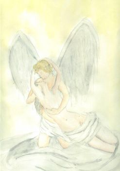 Cupid and Psyche by padawanbutterfingers