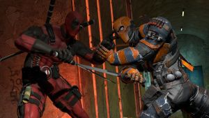 DeathStroke vs DeadPool by Alex16201